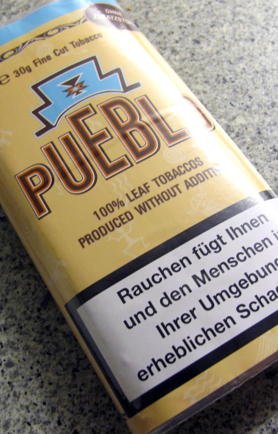 Eine Packung Pueblo-Tabak gratis