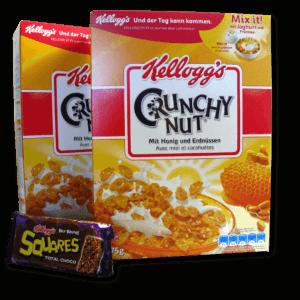Kellogg's Crunchy Nut und Kellogg's Squares