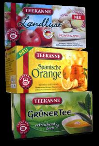 Teekanne Sorten: Spanische Orange, Teekanne Landlust und Grüner Tee