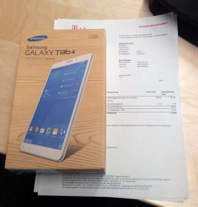 Das Galaxy Tab 4.0 LTE+ aus dem Telekom-Aktion