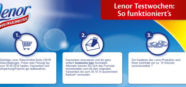 Lenor Testwochen von 01.07.2014 - 30.10.2014